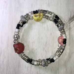 Jewelry - Custom Made Wire Wrap Skull Bracelet - CHOICE